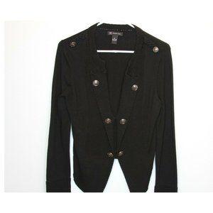 International Concept Cotton Button Front Blazer